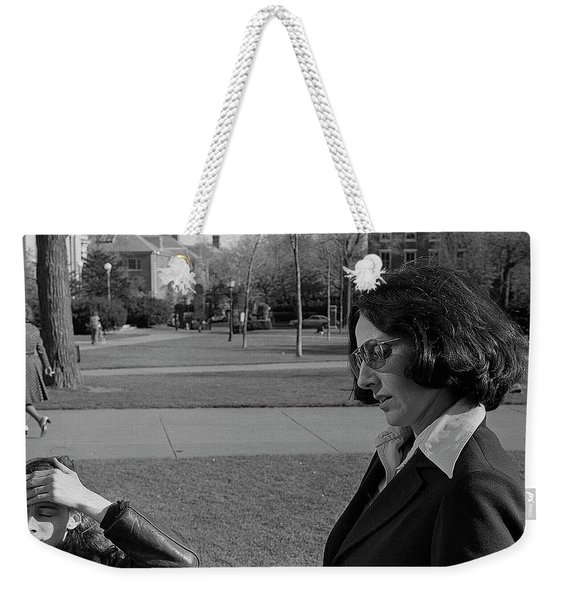 Brown University Student And His Mother, 1975 Weekender Tote Bag
