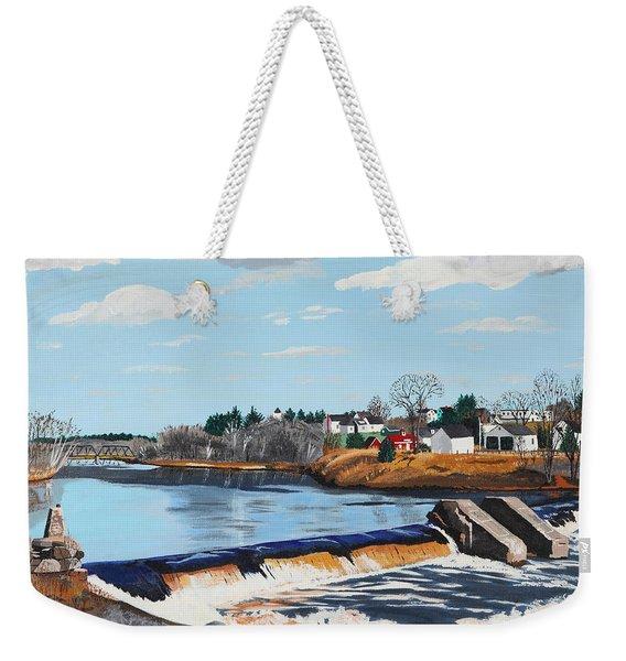 Brownville Village Dam Weekender Tote Bag