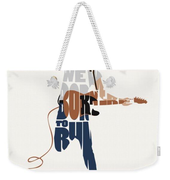 Bruce Springsteen Typography Art Weekender Tote Bag