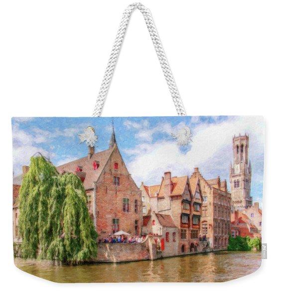 Bruges Canal Belgium Dwp-2611575 Weekender Tote Bag