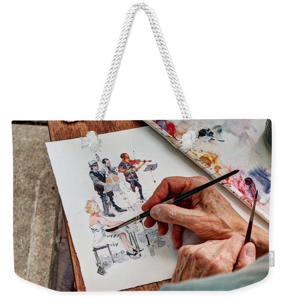 Brush Strokes Weekender Tote Bag