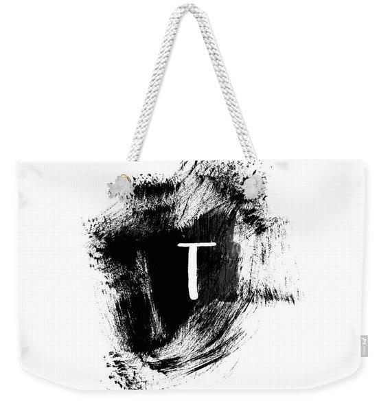 Brushstroke T -monogram Art By Linda Woods Weekender Tote Bag