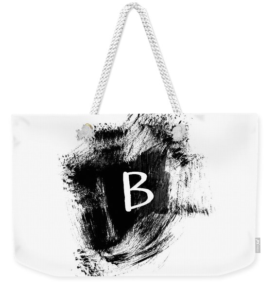 Brushtroke B-monogram Art By Linda Woods Weekender Tote Bag