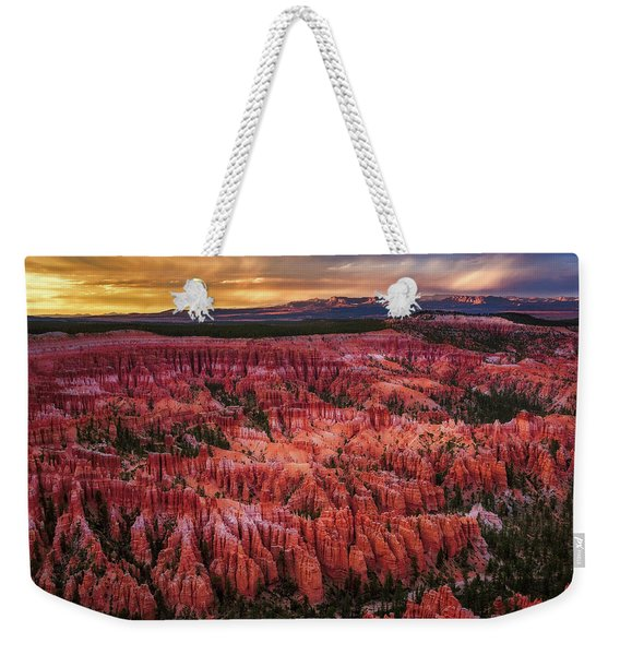 Bryce Canyon In The Glow Of Sunset Weekender Tote Bag