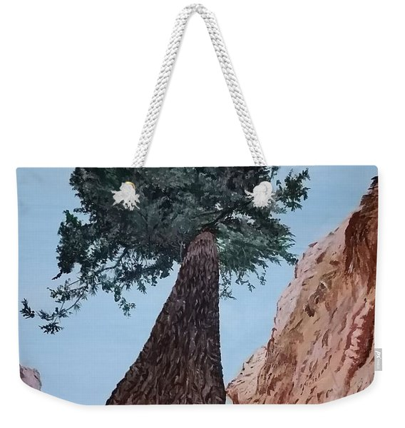 Weekender Tote Bag featuring the painting Bryce Pine by Kevin Daly