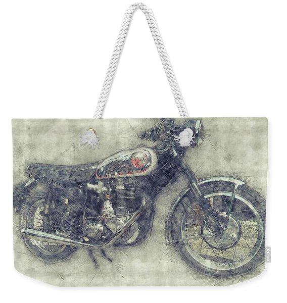 Bsa Gold Star 1 - 1938 - Motorcycle Poster - Automotive Art Weekender Tote Bag