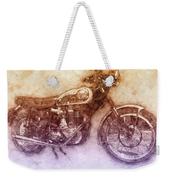 Bsa Gold Star 2 - 1938 - Motorcycle Poster - Automotive Art Weekender Tote Bag
