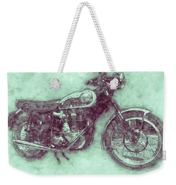 Bsa Gold Star 3 - 1938 - Motorcycle Poster - Automotive Art Weekender Tote Bag