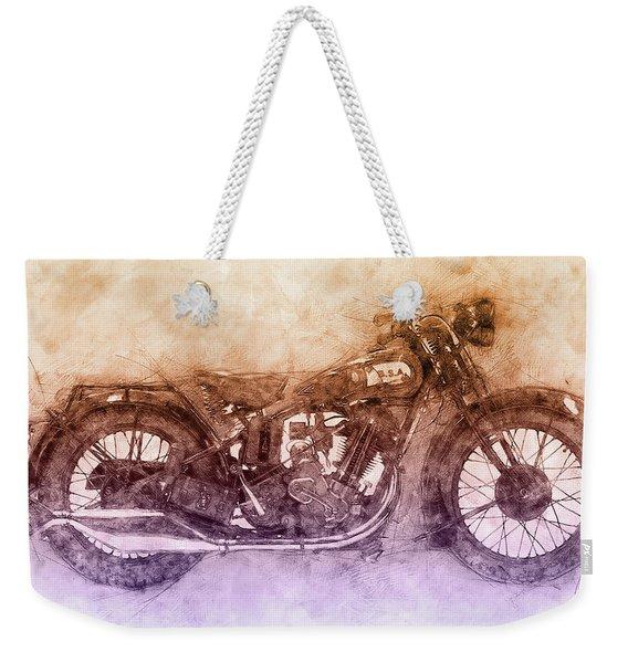 Bsa Sloper - 1927 - Vintage Motorcycle Poster 2 - Automotive Art Weekender Tote Bag