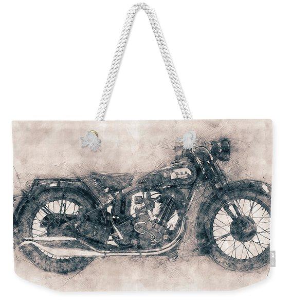 Bsa Sloper - 1927 - Vintage Motorcycle Poster - Automotive Art Weekender Tote Bag