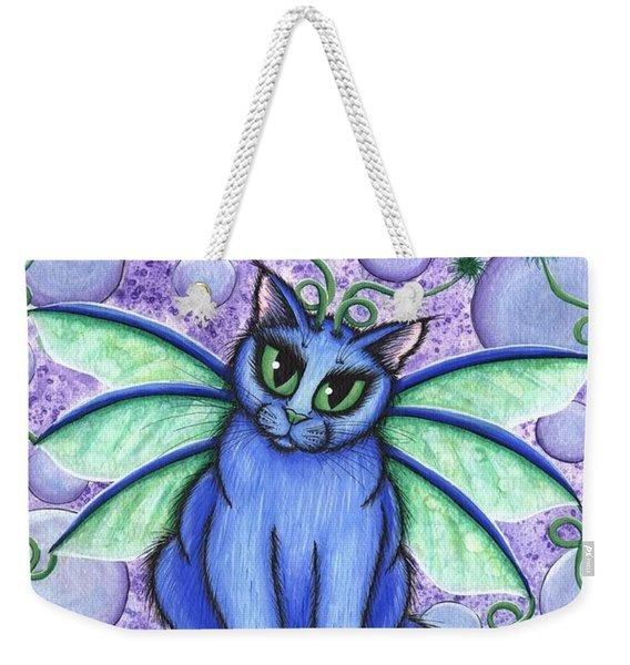 Bubble Fairy Cat Weekender Tote Bag