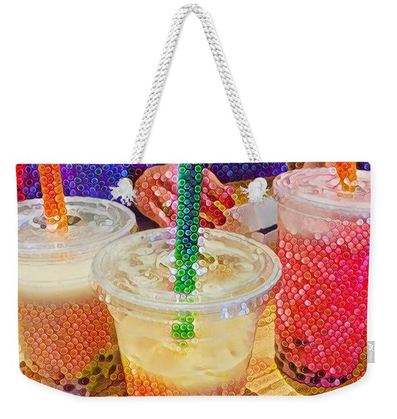 Bubble Tea For Three Weekender Tote Bag