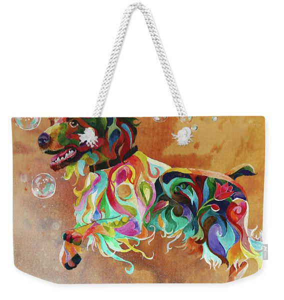 Bubbles  English Springer Weekender Tote Bag