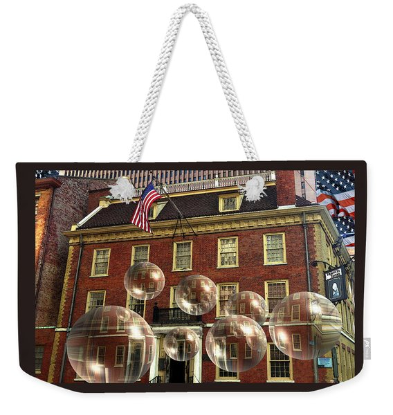 Bubbles Of New York History - Photo Collage Weekender Tote Bag