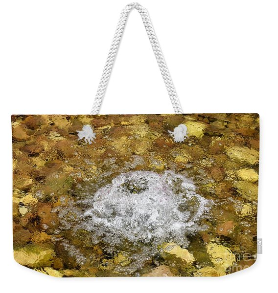 Bubbling Water In Rock Fountain Weekender Tote Bag