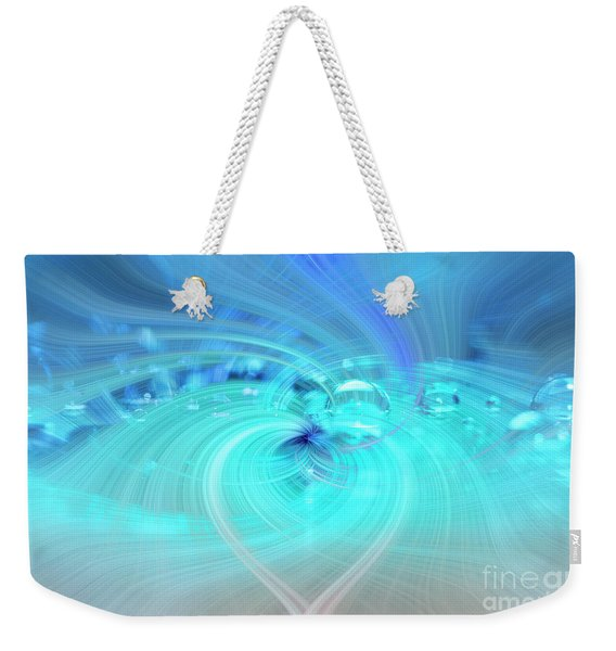 Bubbly Heart Weekender Tote Bag