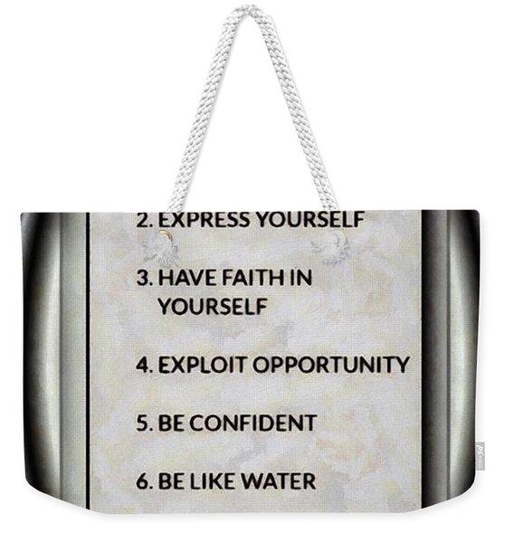 Buce Lee 10 Rules Of Success Weekender Tote Bag