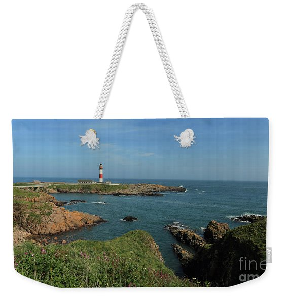 Buchan Ness Lighthouse And The North Sea Weekender Tote Bag