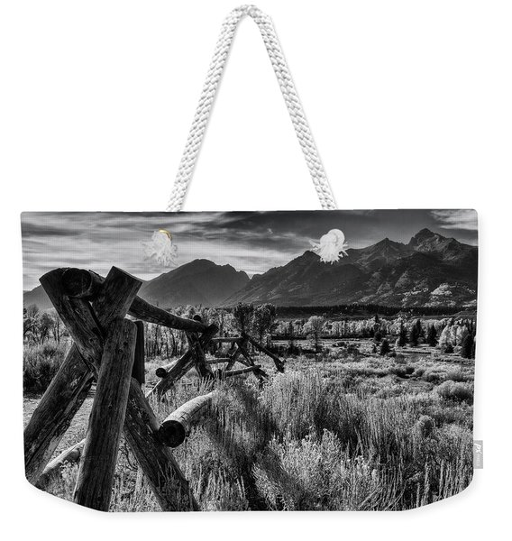 Buck And Rail To The Tetons Weekender Tote Bag