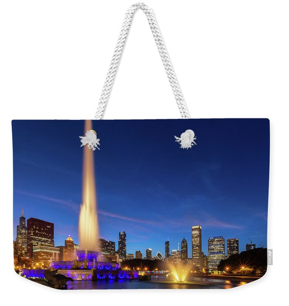Buckingham Fountain At Dusk Weekender Tote Bag