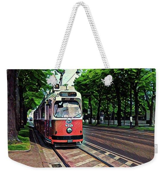 Budapest Trolley Weekender Tote Bag