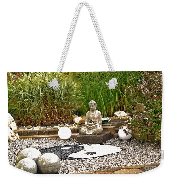 Buddha Looks At Yin And Yang Weekender Tote Bag