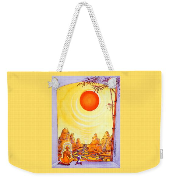 Buddha Meditation Weekender Tote Bag