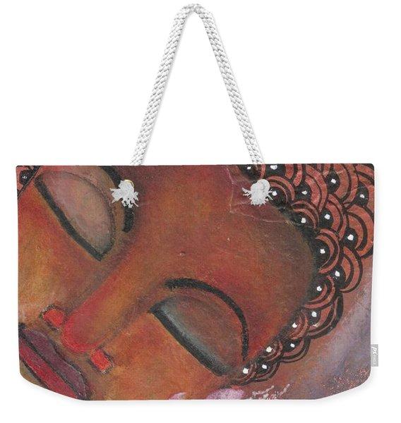 Buddha With Pink Lotus Weekender Tote Bag