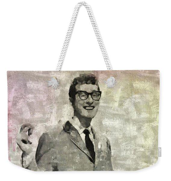 Buddy Holly Vintage Pop Star Weekender Tote Bag