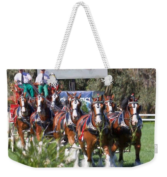 Budweiser Clydesdales Perfection Weekender Tote Bag