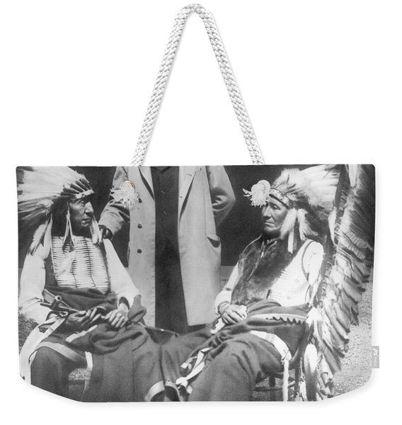 Buffalo Bill With Red Cloud And American Horse Weekender Tote Bag