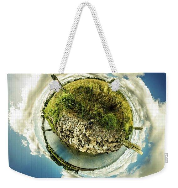 Buffalo Outer Harbor Sunrise - Tiny Planet Weekender Tote Bag