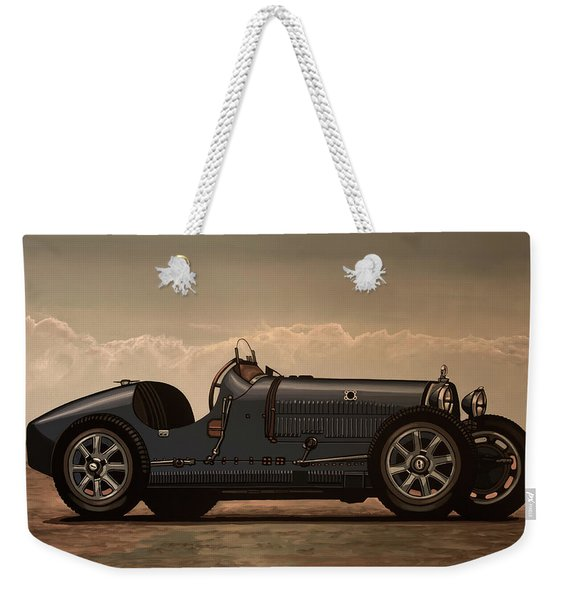 Bugatti Type 35 1924 Mixed Media Weekender Tote Bag