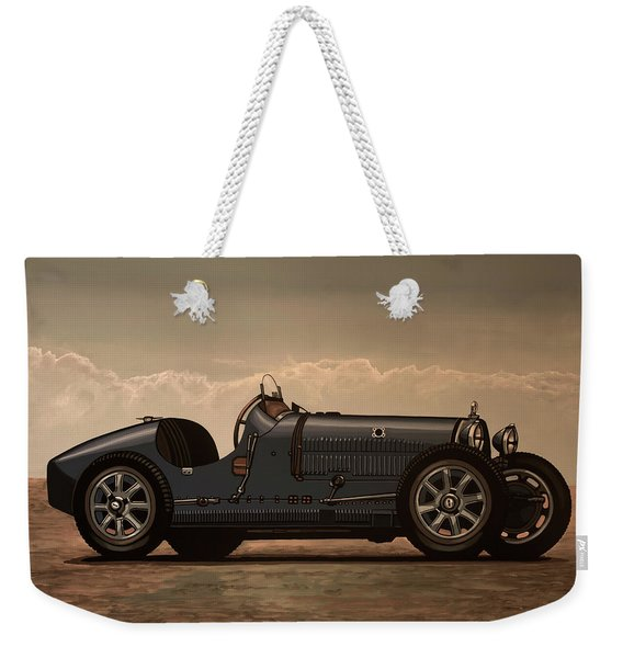 Bugatti Type 35 1924 Mixed Media Weekender Tote Bag