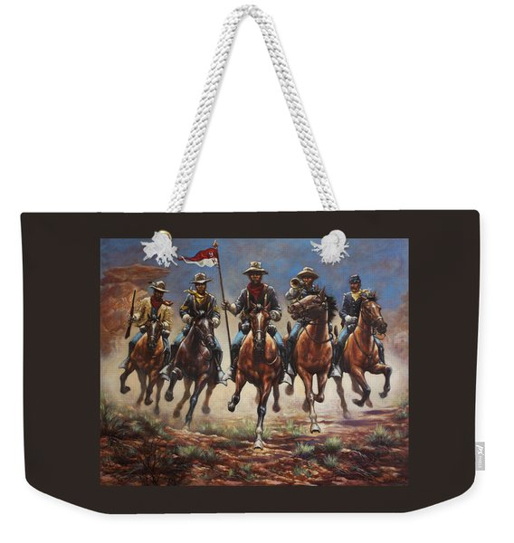 Bugler And The Guidon Weekender Tote Bag
