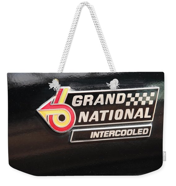 Buick Grand National Emblem Weekender Tote Bag