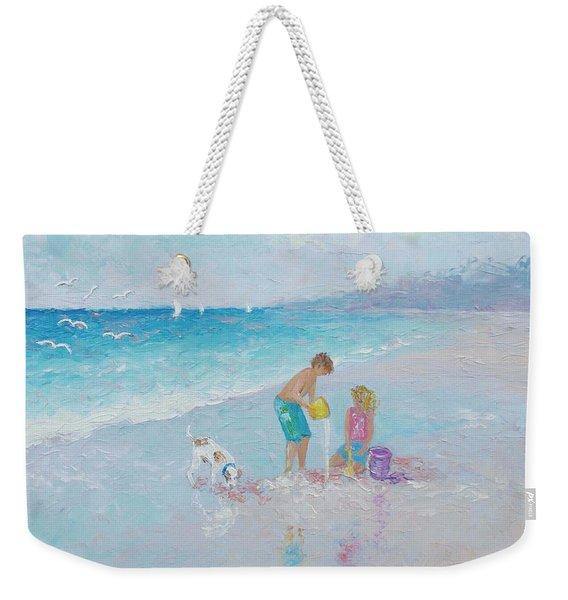 Building Sandcastles Weekender Tote Bag