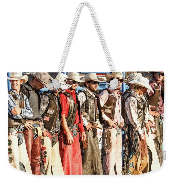 Bull Bash Cowboys Weekender Tote Bag