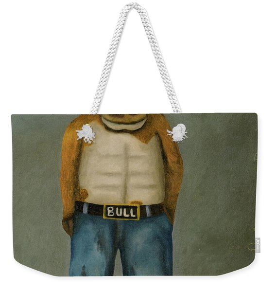 Bull Denim Weekender Tote Bag