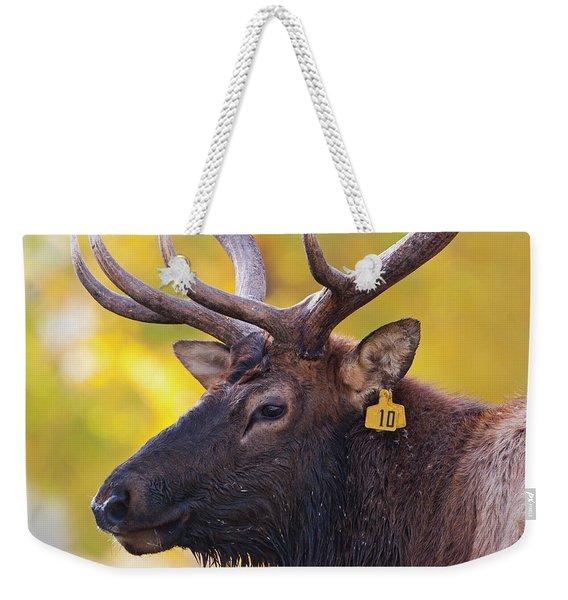 Bull Elk Number 10 Weekender Tote Bag