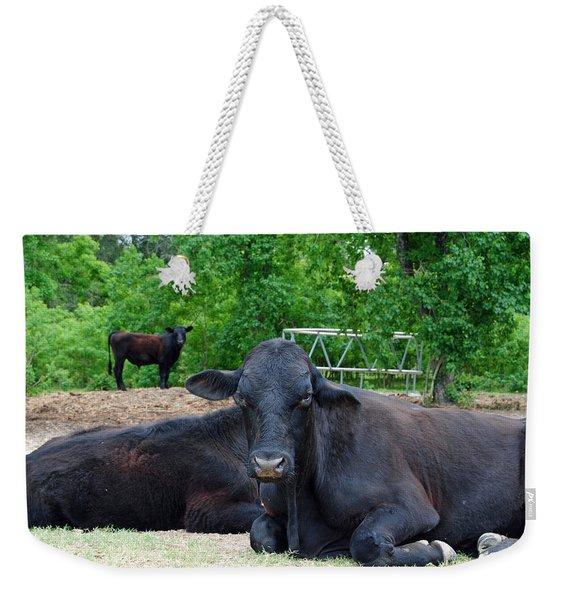 Bull Relaxing Weekender Tote Bag