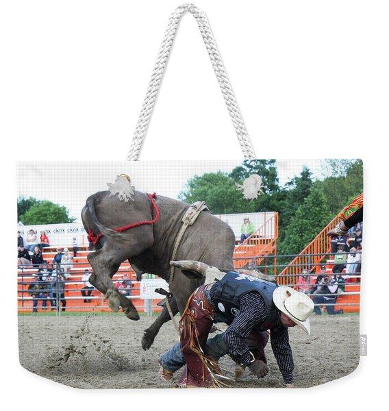 Bull Riding Action Weekender Tote Bag