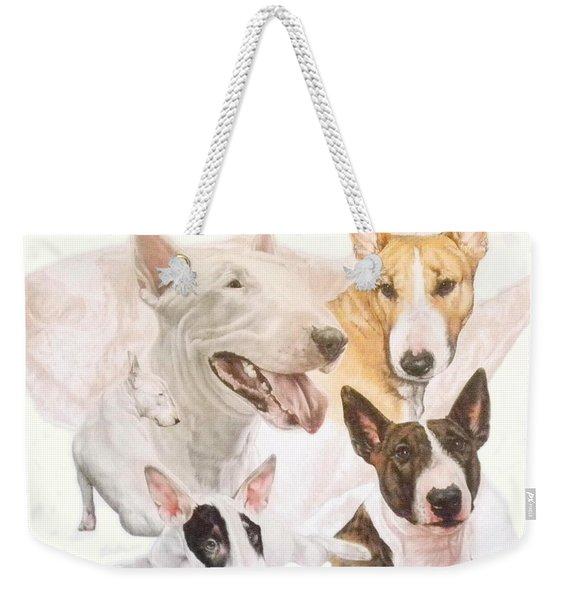 Bull Terrier Medley Weekender Tote Bag