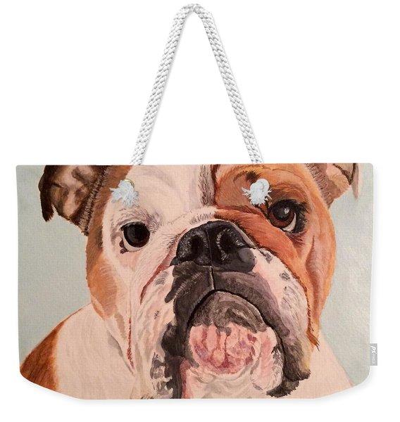Bulldog Beauty Weekender Tote Bag