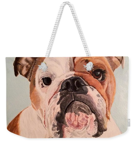 Bulldog Beauty Weekender Tote Bag
