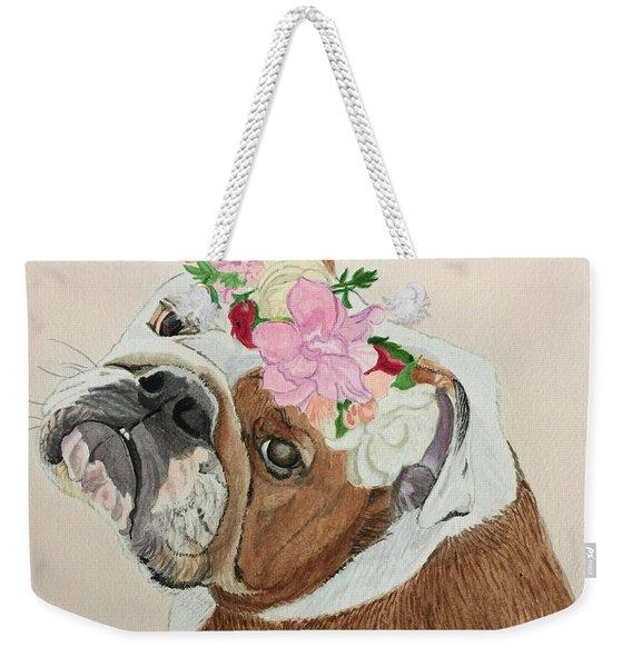 Bulldog Bridesmaid Weekender Tote Bag