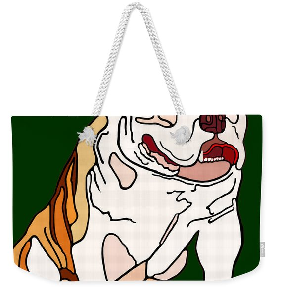 Weekender Tote Bag featuring the painting Bulldog by Marian Cates