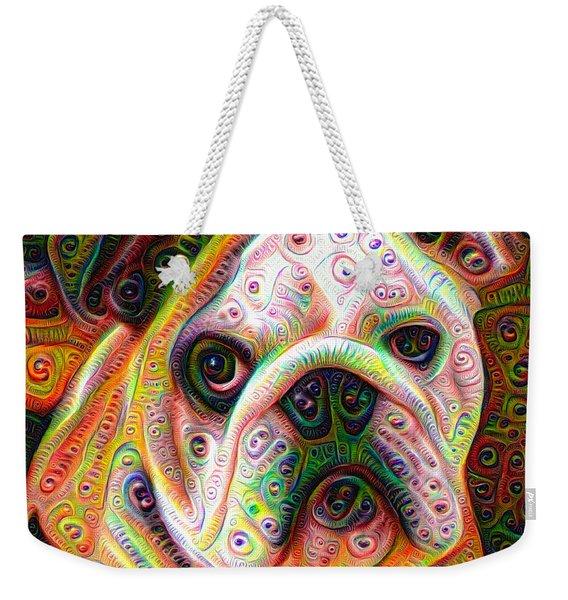 Bulldog Surreal Deep Dream Image Weekender Tote Bag