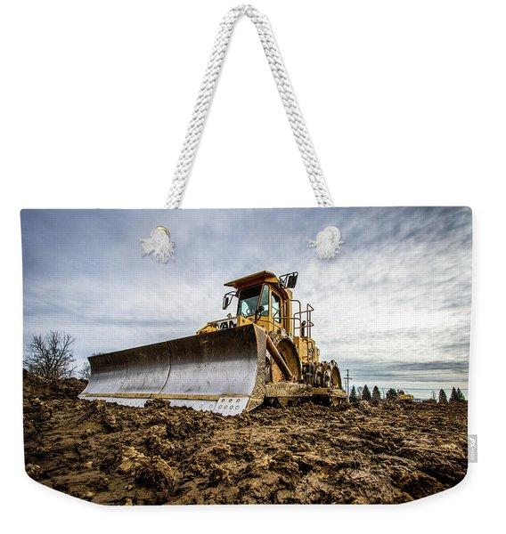 Bulldozer Cat Weekender Tote Bag