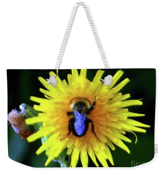 Bullseye Bumblebee Dandelion Weekender Tote Bag